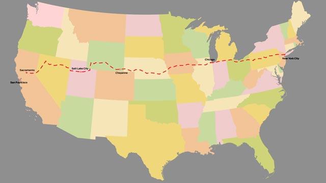 New York to San Francisco